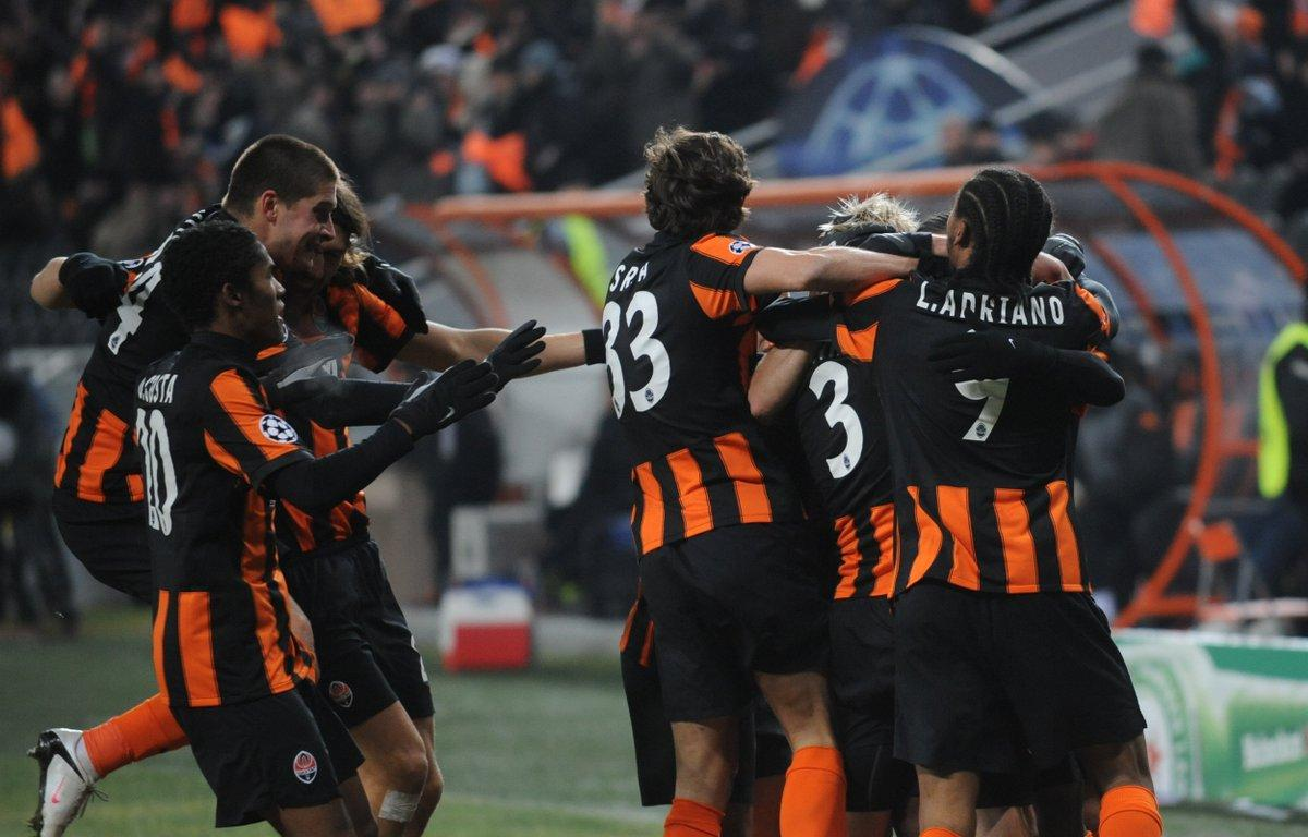 Shakhtar Donetsk vs. Roma football match of UEFA Europa League on March 18